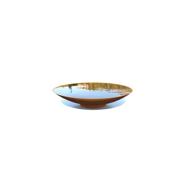 Waterschaal cortenstaal 80 x 21 cm