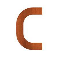 CorTenstaal 9 cm, letter. C