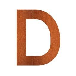 CorTenstaal 9 cm, letter. D