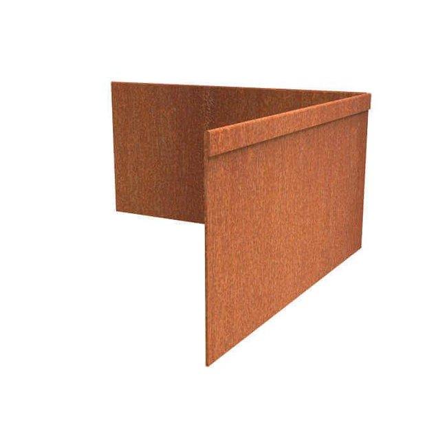 Hoek Cortenstaal geplet 30 x 30 cm, dikte 3 mm
