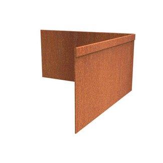 Hoek Cortenstaal geplet 30 x 30 cm, dikte 2 mm