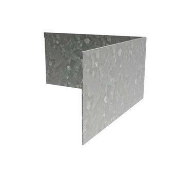 Hoek verzinkt geplet 30 x 30 cm, dikte 3 mm
