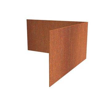 Hoek Cortenstaal recht 30 x 30 cm, dikte 2 mm