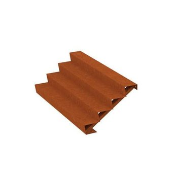Trap Cortenstaal 200 cm breed
