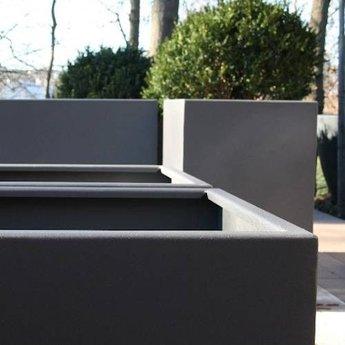 FLORIDA aluminium 100x100x60 cm plantenbak