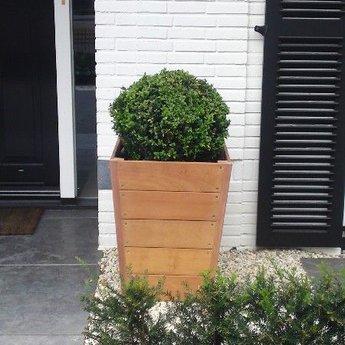 Sevilla 70x70x98 cm houten bloembak