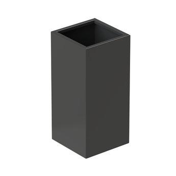 Senzzo Alu. plantenbak 37 x 37 x 80 zwartgrijs