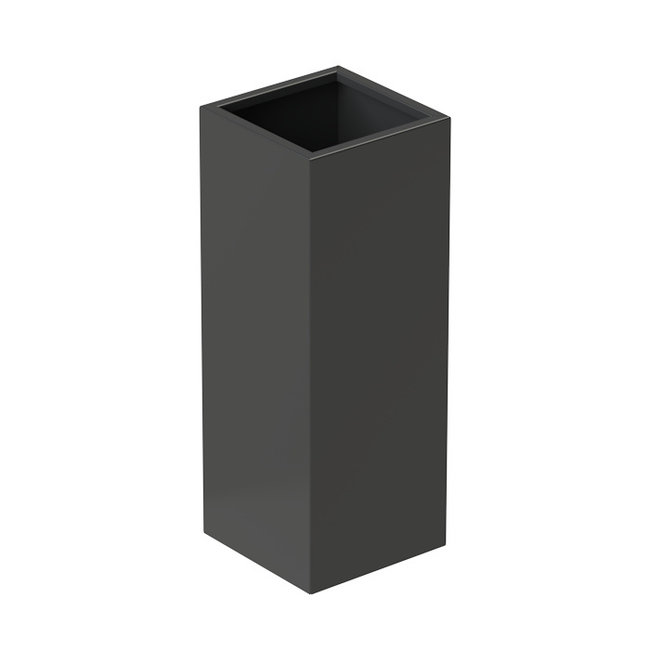 Senzzo Alu. plantenbak 37 x 37 x 100 zwartgrijs