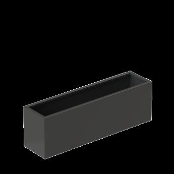 Senzzo Alu. plantenbak 120 x 30 x 40 zwartgrijs