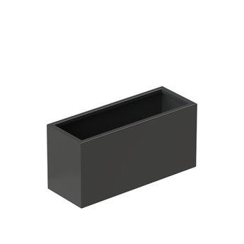 Senzzo Alu. plantenbak 80 x 30 x 40 zwartgrijs