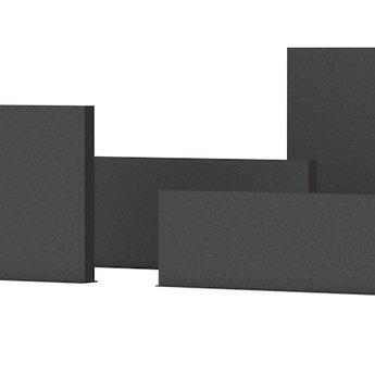 Tuinmuur aluminium 100 x 15 x h 80 cm