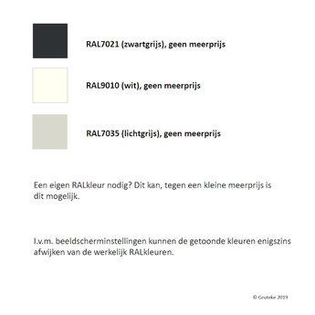 Tuinmuur aluminium 100 x 15 x h 135 cm