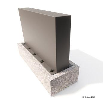 Tuinmuur aluminium 200 x 15 x h 135 cm