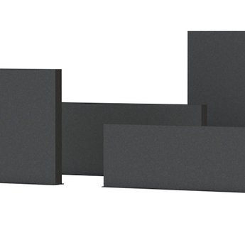 Tuinmuur aluminium 200 x 15 x h 100 cm