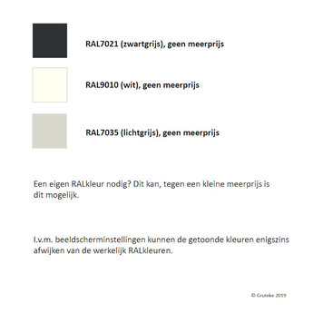 Tuinmuur aluminium 300 x 15 x h 100 cm