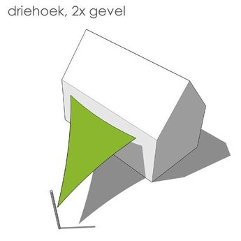 Nesling Bevestigingsset driehoek 2x gevel