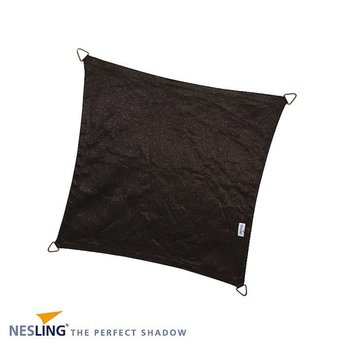 Nesling Coolfit 5 x 5 m zwart schaduwdoek