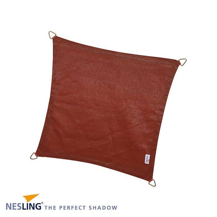 Nesling Coolfit 5 x 5 m terra schaduwdoek