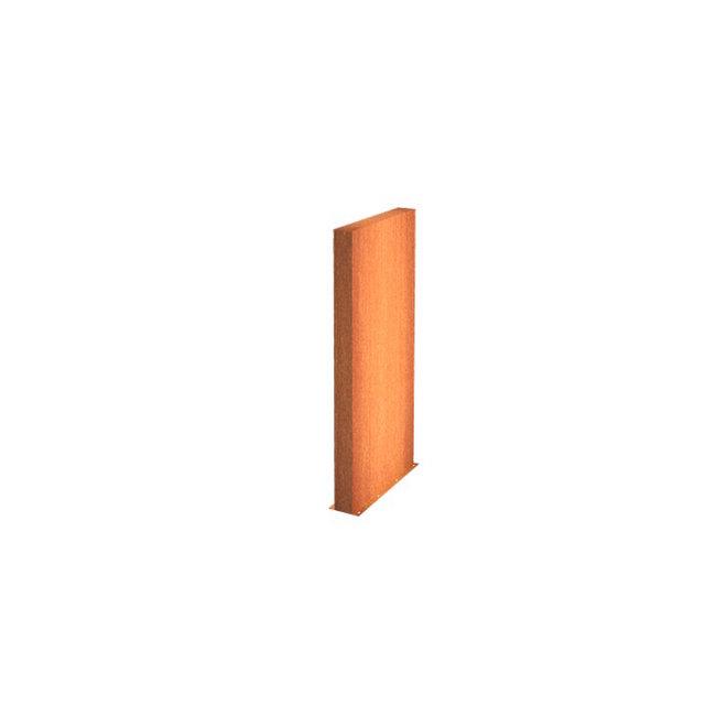 Tuinmuur cortenstaal 100 x 15 x h 135 cm