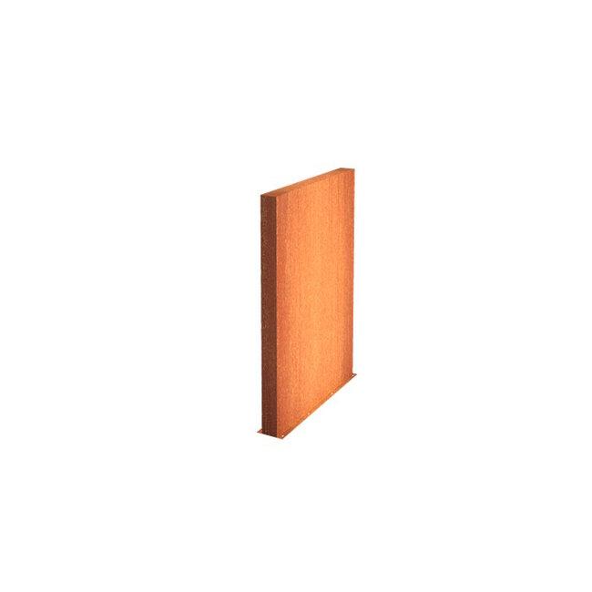 Tuinmuur cortenstaal 150 x 15 x h 135 cm