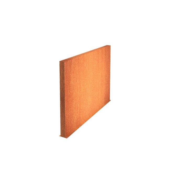 Tuinmuur cortenstaal 300 x 15 x h 135 cm