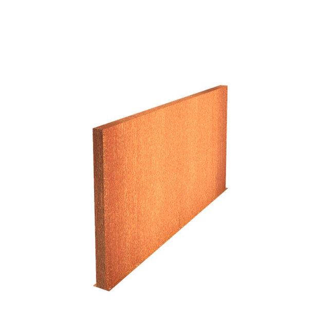 Tuinmuur cortenstaal 400 x 15 x h 135 cm
