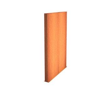 Tuinmuur cortenstaal 200 x 15 x h 200 cm