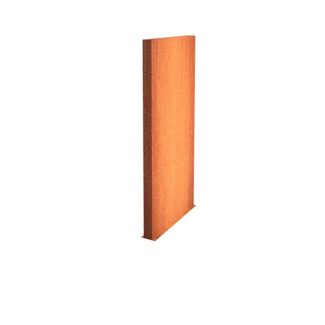 Tuinmuur cortenstaal 150 x 15 x h 200 cm