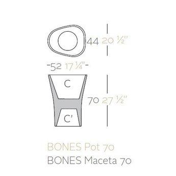 Vondom BONES 70 bloempot