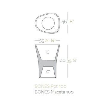 Vondom BONES 100 bloempot