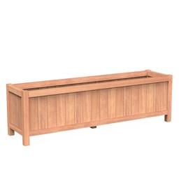 Valencia 200x50x60 cm houten bloembak