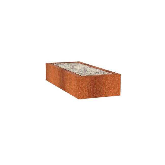 Watertafel cortenstaal 200 x 80 x 40 cm