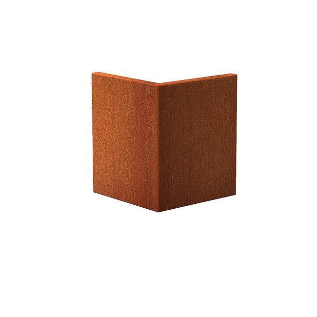 Keerwand cortenstaal 50 x 50 x 60 cm buitenhoek