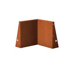 Keerwand cortenstaal 50 x 50 x 60 cm binnenhoek
