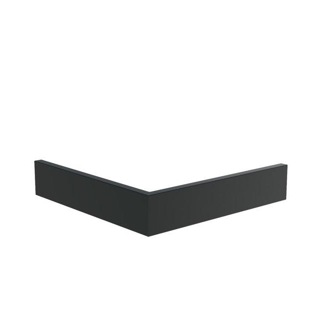 Keerwand aluminium 100 x 100  x 20 cm buitenhoek