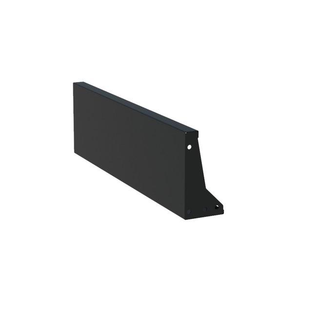 Keerwand aluminium 100 x 30 cm recht