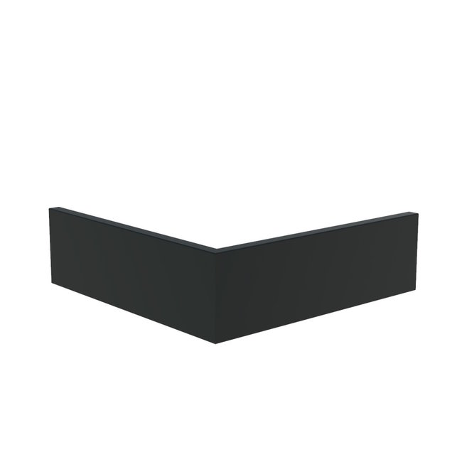 Keerwand aluminium 50 x 50 x 30 cm buitenhoek