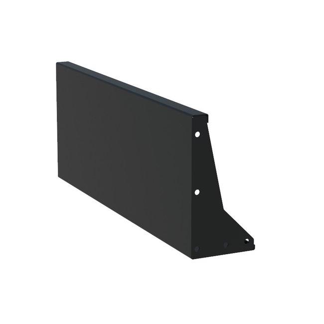 Keerwand aluminium 100 x 40 cm recht