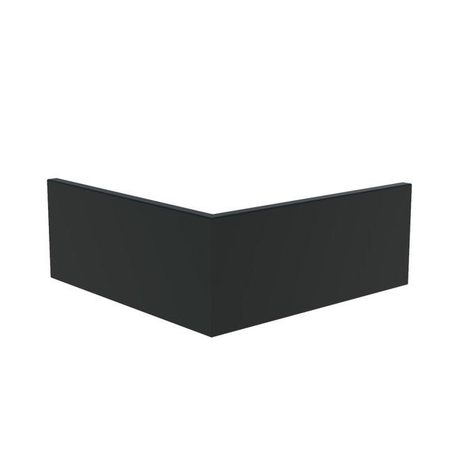 Keerwand aluminium 100 x 100 x 40 cm buitenhoek