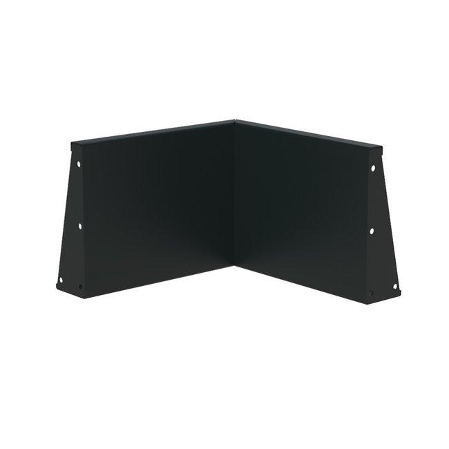 Keerwand aluminium 50 x 50 x 40 cm binnenhoek