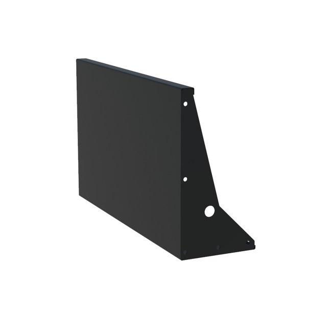 Keerwand aluminium 100 x 60 cm recht