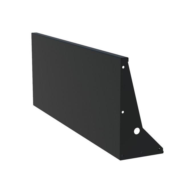 Keerwand aluminium 150 x 60 cm recht