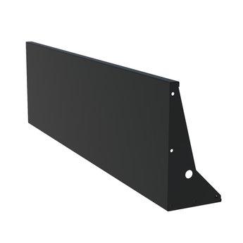 Keerwand aluminium 200 x 60 cm recht