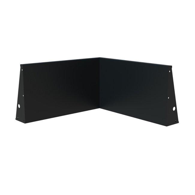 Keerwand aluminium 100 x 100 x 60 cm binnenhoek