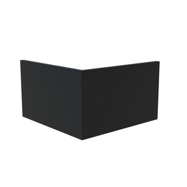 Keerwand aluminium 100 x 100 x 60 cm buitenhoek
