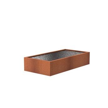 Vijver cortenstaal 300 x 150 x 60 cm