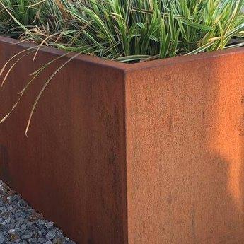 Andes cortenstaal 100x100x60 cm  zonder bodem