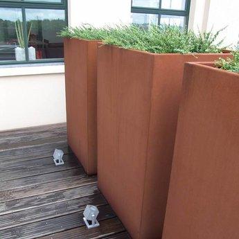Andes cortenstaal met poten 120x40x80 cm plantenbak