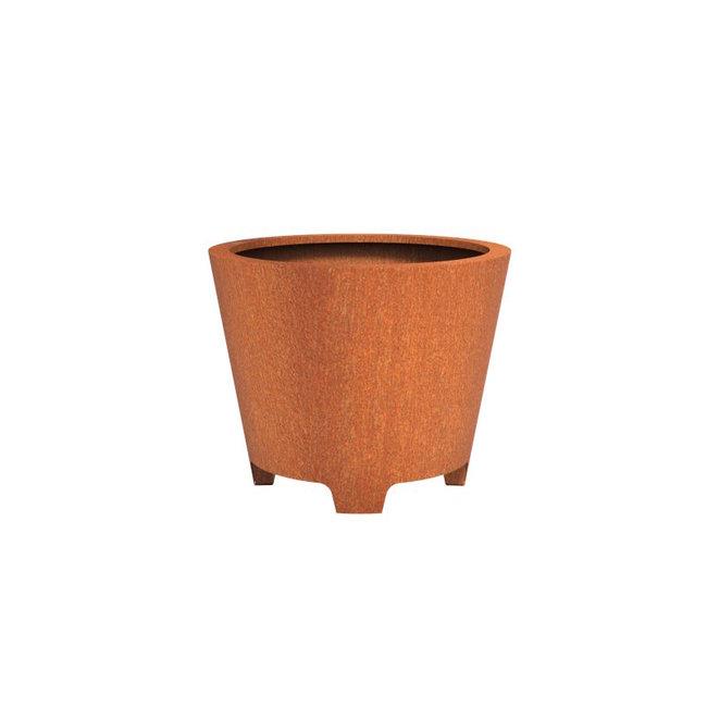 CADO cortenstaal 100x80 cm bloempot met poten
