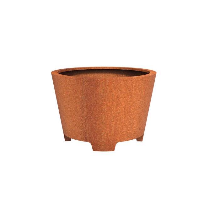 CADO cortenstaal 120x80 cm bloempot met poten